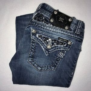 Miss Me Embellished Studded Bootcut Jeans 27 30